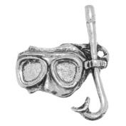 Snorkel Diving Mask Pewter Tie Pin or Lapel Badge
