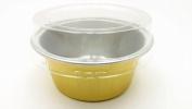 KitchenDance Disposable Aluminium Mini Baking Cups/ Dessert Cups- 30ml Capacity- Pack of 100