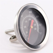 Katoot@ BBQ Grill Thermometer Stainless Steel Dial Gauge Probe Gauge Food Cooking Meat Temperature Outdoor Accessories Instruments