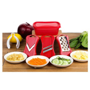 Tenta Kitchen Good Grips Complete Grater & Slicer Set 3 in 1 Onion Chopper, Vegetable Slicer, Fruit and Cheese Cutter Container With Hand Protector