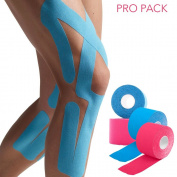 LifeShop Sport Injury and Pain Relief Athletic Fitness Kinesiology Extension Physiotherapy Tape Dual-Pro Pack