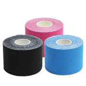 Harmony Life 3 Rolls Elastic Kinesiology Therapeutic Tape for Athletes, 5.1cm * 510cm