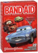 Band-Aid Adhesive Bandages Disney Pixar Cars, 3 Assorted Sizes - 20 ct
