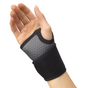 Truform Champion Wrist Wrap Support with Universal Fit and Air Mesh Fabric, Grey