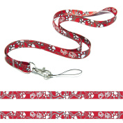 ANIMAL CUTE PADS FOOT SPOT SATIN a high quality, two-sided printing in full colour and high resolution Lanyard Neck Strap ideal for mobile ID Badge keys mp3 Usb holder