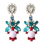 Adorning Ava Statement Chandelier Earrings | Bright Colourful Floral Jewel