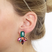 Earrings Women Silver Plated Studs Colourful Crystal Earrings Fashion Jewellery Ear Studs Special Occasions, Many Colours