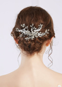 Handmadejewelrylady Bridal Women Vintage Wedding Party Crystal Rhinestone Hair Comb Chain Hair Accessories Wedding Headpiece