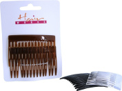 Womens 6x Hair Slides Wedding Fascinator Plastic Side Combs Shell Pack Of 2