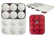 12 Deep Cup Non Stick Ceramic Muffin Fairy Cake Tray Tin Non-stick Bakeware
