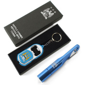 Manchester City Fc Official Football Torch Keyring Bottle Opener