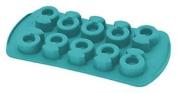 Happyflex Hf05619 Ghiaccioring Ice Cube Tray, Silicone, Blue