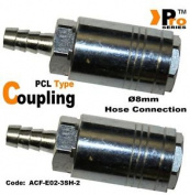 Twin Pack - Pcl Style Quick Release Coupling With Hose Connector ø8mm 005