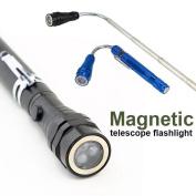 Telescopic Flexible Magnetic Light Flashlight Torch Pick Up Tool Lamp 3 Led