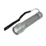 6 Grey Aluminium Alloy White Led Light Flashlight W Black Strap