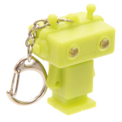 Robot Led Keyring Torch - Key Chain With Light And Sound - Green By Pk Green