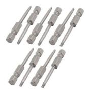 "10 Pcs 1/4"" Hex Shank 2mm Tip Magnetic Triangle Screwdriver Bits"