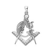 Masonic Freemasonry Ladies Gift Silver Detailed Pendent