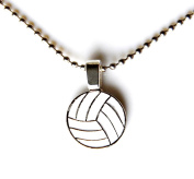 Volleyball Pendant with Chain, Valentine's Gift, Anniversary Present, Gift Box Included
