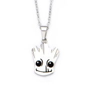 Official Licenced Stainless Steel Guardians of The Galaxy Groot Pendant Necklace