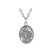 My Love is Alive Necklace,valentine's day necklace, couples jewellery, silver jewellery