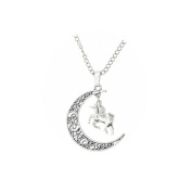 Unicorn Moon Necklace, Crescent Moon, Silver Moon Pendant, Gift For Her, Handmade Jewellery