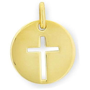 SF Jewellery – Gold Plated Cross Pendant