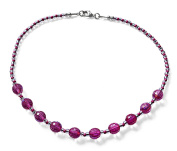 Pink Glass Disco Ball Costume Fashion 44 cm Bead Necklace.