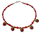 Strawberry Fields Forever Fashion Costume 43 cm Bead Necklace.