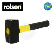 Rolson 1kg Fibreglass Club Lump Hammer Steel Head Fibre Glass Shaft Rubber Grip