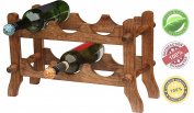 Souvnear 6 Bottle Wine Rack Wooden Countertop Wine Holder Large 48.8 Cm Stand