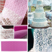 Silicone Flower Lace Fondant Embossed Mould Sugarcraft Cake Decorating Mould Tool