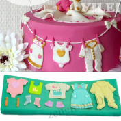 3d Baby Clothes & Shoes Fondant Mould Silicone Cake Decoration Baking Sugarcraft