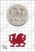 Silicone Mould Welsh Dragon   Food Use Fpc Sugarcraft Free Uk Shipping!