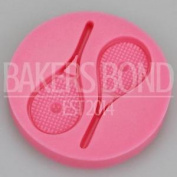Tennis Player Racket Silicone Mould Sport Themed Cake Topper Wimbledon Chocolate