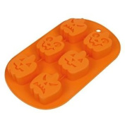Casa Bonita Halloween Pumpkin-shape Silicone Chocolate Cake Jelly Candy Moulds T