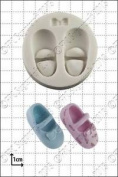 Silicone Mould Baby Shoes & Bow   Food Use Fpc Sugarcraft Free Uk Shipping!