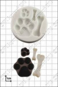 Silicone Mould Paws And Bones   Food Use Fpc Sugarcraft Free Uk Shipping!