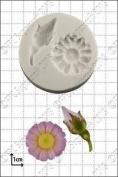 Silicone Mould Rosebud And Daisy   Food Use Fpc Sugarcraft Free Uk Shipping!
