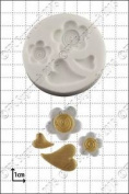 Silicone Mould Hearts And Flowers | Food Use Fpc Sugarcraft Free Uk Shipping!