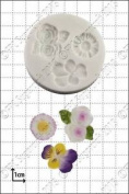 Silicone Mould Viola, Roses & Daisy | Food Use Fpc Sugarcraft Free Uk Shipping!