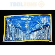 Toolzone 25pc Mm And Af Hex Keys In Wallet