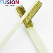 2 X Solid Copper Wire Head Brush Electrical Tool Bbq Battery Terminals Cleaner