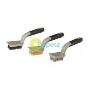 3pce Wire Brush Set Removing Rust Scale Surface Preparation Cleaning Garage