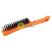 Steel Wire Brush - 5 Row Removing Rust Scale Surface Preparation Cleaning Garage