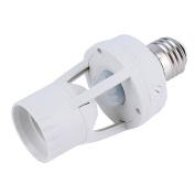 ALCYONEUS E27 Base LED Infrared Motion Detection Light Sensor Light Bulb Switch Holder