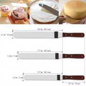 3x Angled Butter Cake Icing Spatula Knives Cream Spread Decorating Pastry Cutter