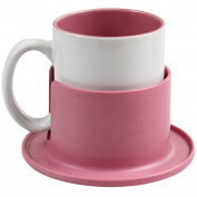 Pink Coffee Tea Drinking Cup Mug And Coaster Set Ideal Birthday Tableware