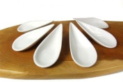Canapé Spoons Arrow Handle X 6 White. Shipping Is Free