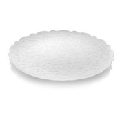 Alessi Dressed Round Tray W/ Relief Decoration White Home Household Supplies Co